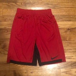 Nike Boy's Dri-Fit Shorts Large Red